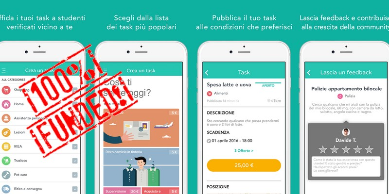 Taskhunters successo equity crowdfunding su crowdfundme