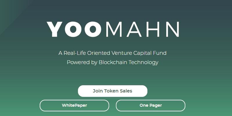 Yoomahn fondo VC tokenizzato lancerà ICO