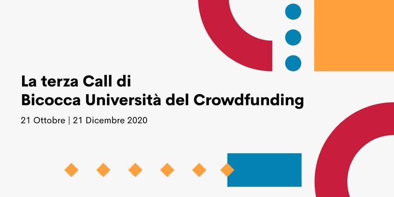 Bicocca Università del Crowdfunding terza call
