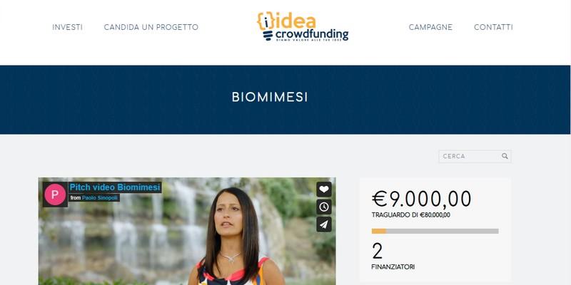 Idea Crowdfunding al via con startup Biomimesi