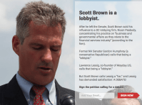 Mayday Scott Brown is a Lobbyist