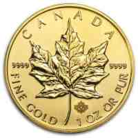 Gold Maple Dollar Money Canada