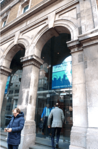 Finovate Europe London 2016 Entrance