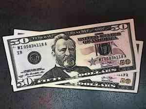 Fifty Dollars Money Grant