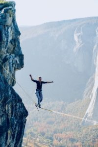 leio mclaren Unsplash Balance Tight rope Risk Danger