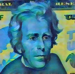 Andrew Jackson Money 20 Dollars Blue