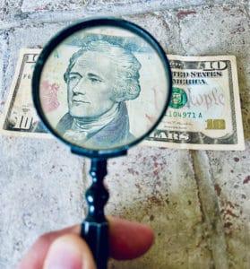 Find Search Seek Money Magnify Scrutiny Dollar