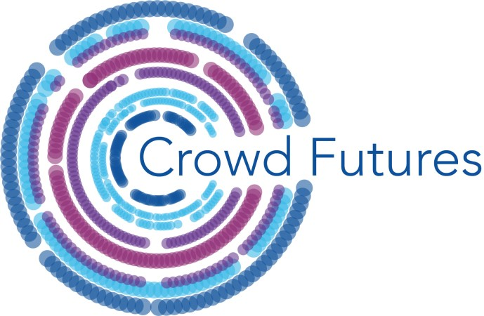 Crowd Futures icon: dots collected into the shape of the letter C