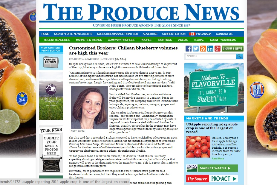 Produce News - Blueberries