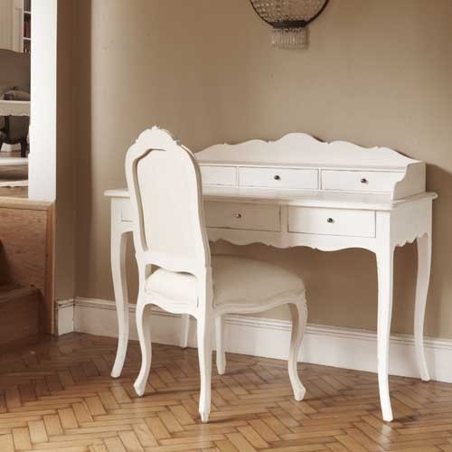 Lyon French Painted Writing Desk White Painted Writing Desk French Style Writing Desk