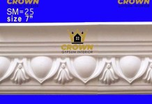 Gypsum cornis strip very quality full interior design