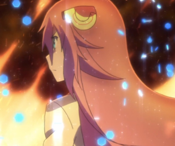 Julis has a temper -- and a flame attack that exemplifies it. Capture from Crunchyroll's stream.
