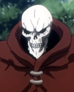 When all was said and done, Ainz loved his creations so much that he couldn't bear to see them fight among each other. So he took on Shalltear alone. Capture from the Funimation stream.