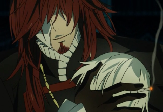 D.Gray-man HALLOW Episode 104: Cross Marian was trying to tell Walker more than it appeared. The listeners seemed to think so, too. Capture from the Funimation stream.