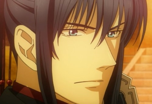 Kanda remains suspicious about what he saw of Allen during the battle. Capture from the Funimation stream.