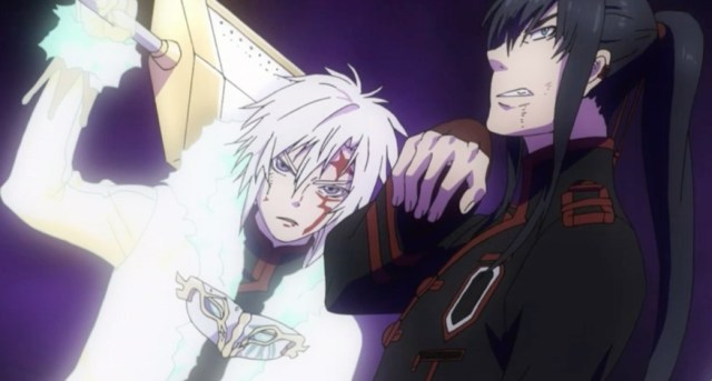 Allen and Kanda appear to be coordinating their attacks much better now. Capture from the Funimation stream.
