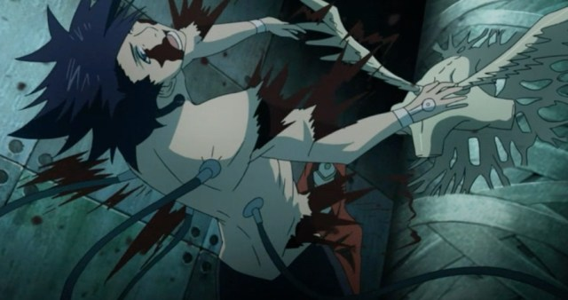 The experiments take a terrible toll on Kanda and Alma Karma. Capture from the Funimation stream.
