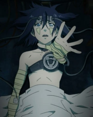 Kanda regains his memories -- as he's strapped on a medical bed. Capture from the Funimation stream.