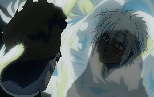 Allen was at first horrified at what he did to the Cardinal. That didn't last long, though... Capture from the Crunchyroll -- yes, Crunchyroll! -- stream.
