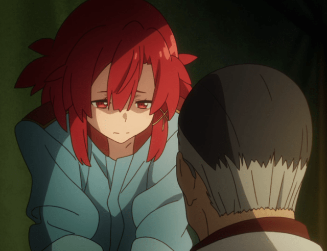 Izetta can't forgive herself for letting the Princess be wounded. Capture from the Crunchyroll stream.