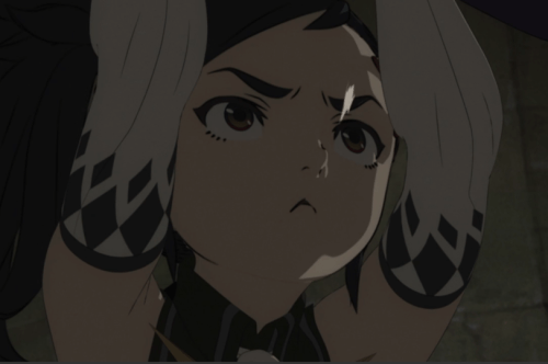 One of Karoruko's bravest -- if not most diplomatic -- moments! Capture from the Crunchyroll stream.