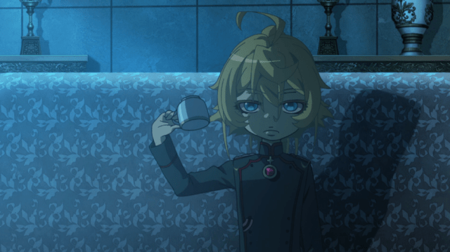 Saga of Tanya the Evil Episode 12: Tanya uses props to make her point.