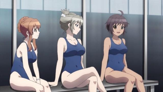 Magical Girl Spec-Ops Asuka Episode 3: Kurumi, Asuka, and Nozomi's posture speaks volumes.