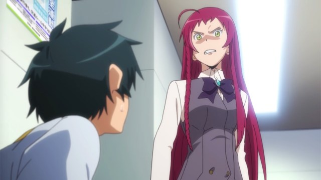 The Devil Is a Part-Timer Episode 3: Emi is displeased with Sadao -- again