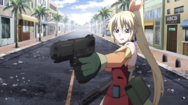 Magical Girl Spec-Ops Asuka Episode 10: Mia fought in spite of her injuries