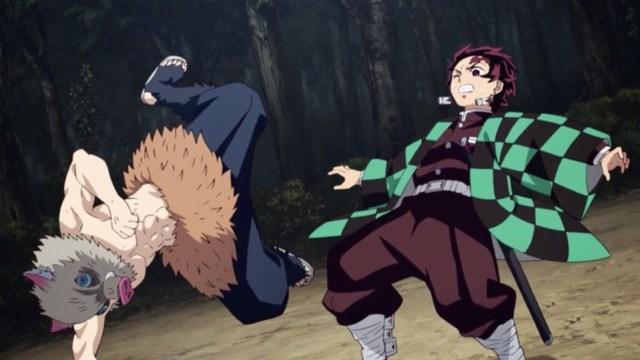 Review of Demon Slayer Kimetsu no Yaiba Episode 14: Tanjiro and Inosuke fight it out