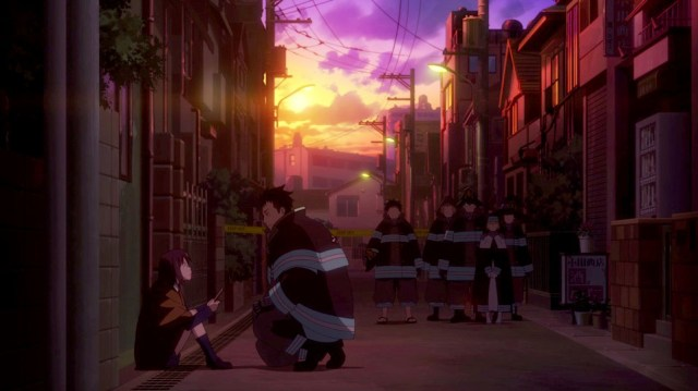 Review: Fire Force Episode 2: Akitaru comforts the young girl