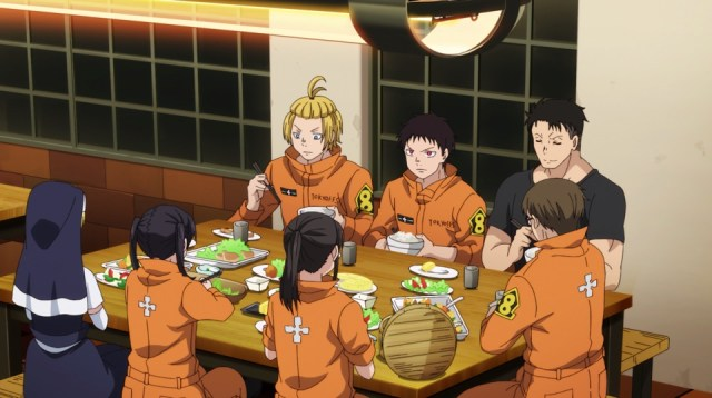 Review: Fire Force Episode 10: Supper in Company 8 is comfortable!