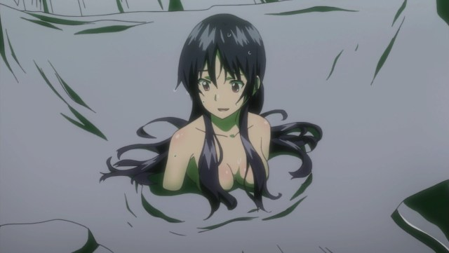 Campione! Episode 12: Seishuuin seemed really relaxed in the face her of her own death.