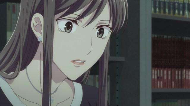 Fruits Basket S2E15:Yuki's mom couldn't handle Ayame's entrance.