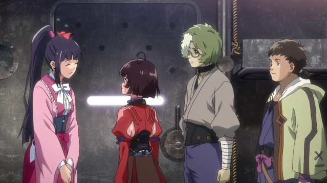 Kabaneri of the Iron Fortress Episode 5: Ayame is a charismatic leader.