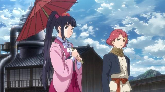 Kabaneri of the Iron Fortress Episode 9: Ayame asks Ikoma to return Mumei to them.