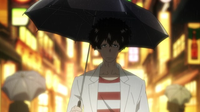Fire Force Season 2 Ep 11: Victor Licht takes a walk in the rain.