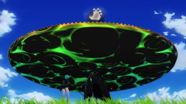 Land of the Lustrous Episode 10: Phos wonders if the monster Shiro were stuck.
