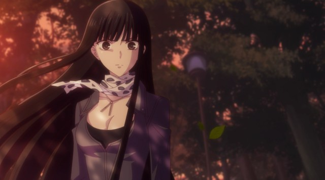 Fruits Basket - The Final Episode 1: Rin felt displeased to see Tohru in such a state.