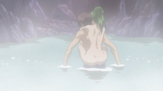 Not sure how Akuto could think straight with a naked Eiko on his back.