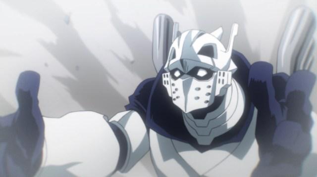 My Hero Academia Season 5 Episode 96: Iida threw Shouto to relative safety.
