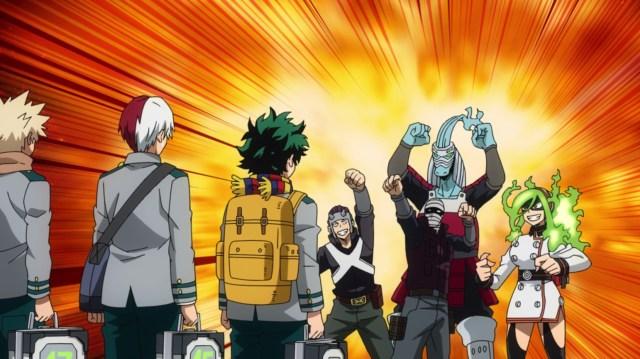 My Hero Academia Season 5 Episode 102: The Endeavor Agency has over 30 sidekicks.