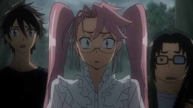 High School of the Dead Episode 11: Saya couldn't believe the adults didn't believe zombies were real