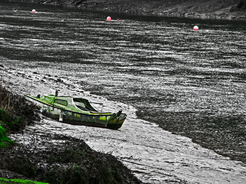 Old Boat and Bouys