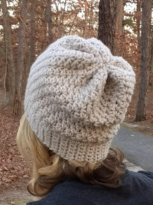 alabaster crochet slouch beanie