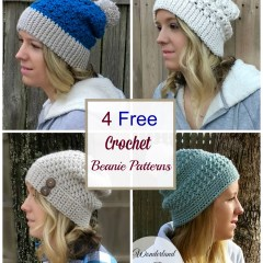 4 Crochet Beanie Patterns