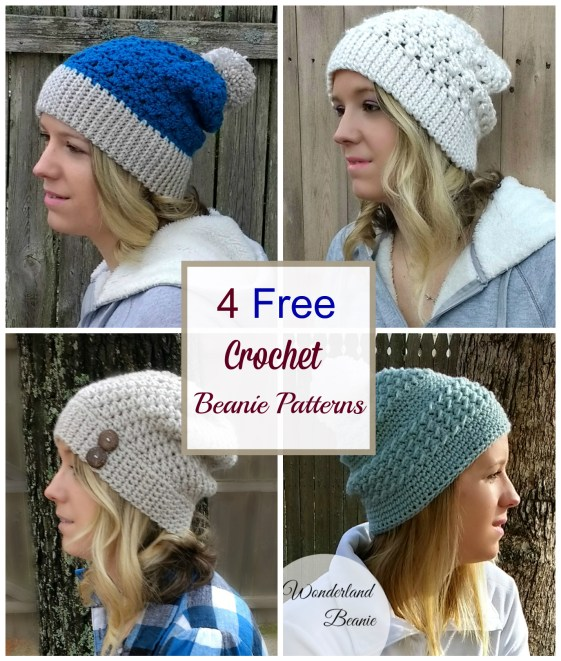 4 Easy And Free Crochet Beanie Patterns Croyden Crochet