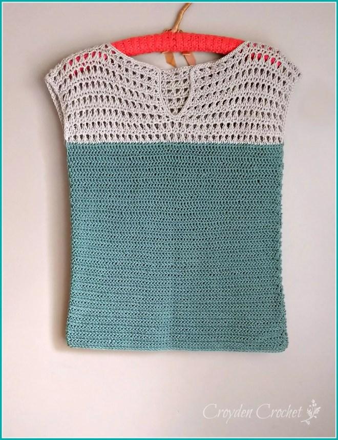 Shore Points Crochet Top