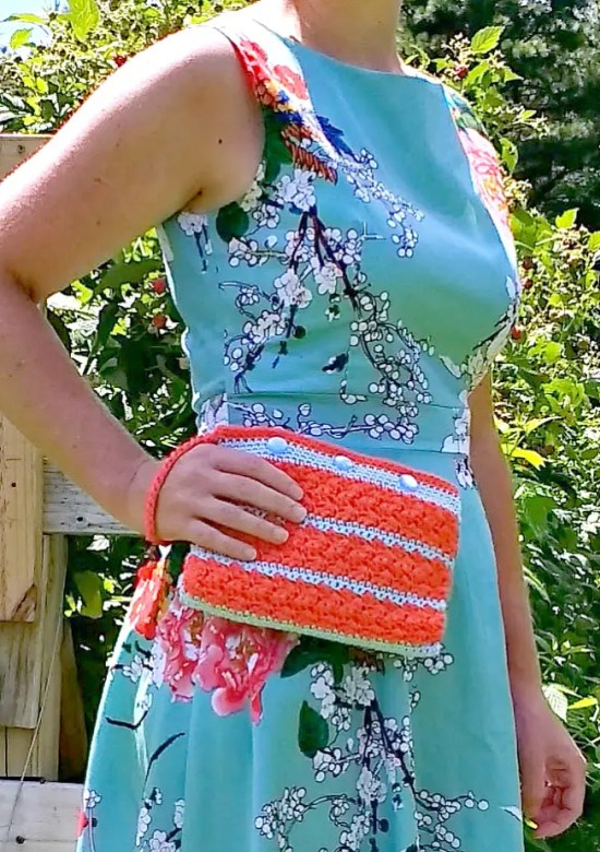 Silt Stitch Clutch pattern