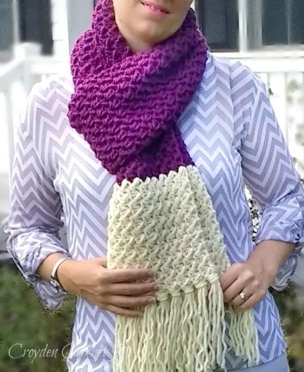plumberry crochet scarf pattern
